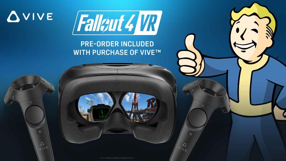 HTC startet mit dem Verkauf eines neuen Bundles. Wer sich ab heute eine HTC Vive kauft, erhält Fallout 4 VR kostenlos dazu.