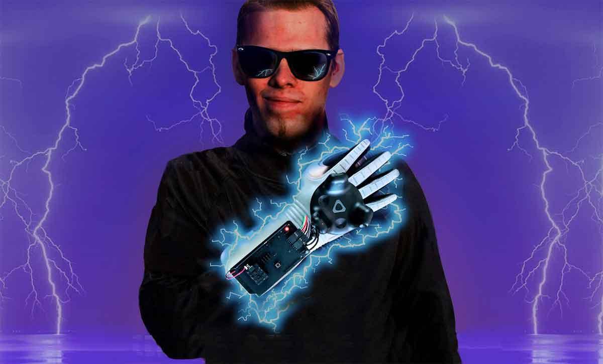 Entwickler verbinden in einem Experiment alte und neue Sensortechnologie und machen den Power Glove mit HTC Vive kompatibel.