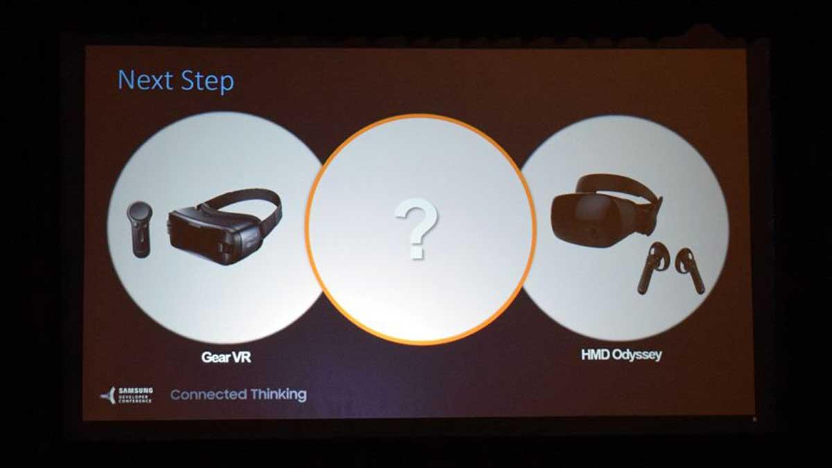 Auch Samsung arbeitet an einer autarken VR-Brille im Stile von Oculus' Santa-Cruz-Prototyp. Intel soll das Inside-Out-Tracking beisteuern.