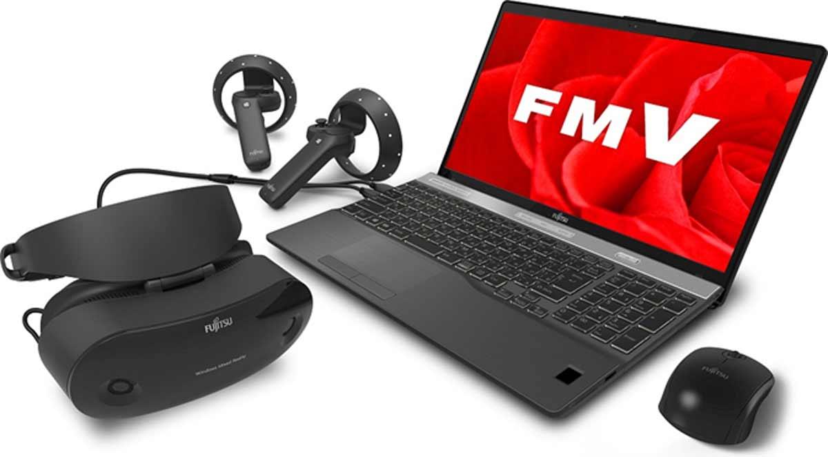 Windows Mixed Reality: Fujitsu kündigt VR-Brille samt Notebook an