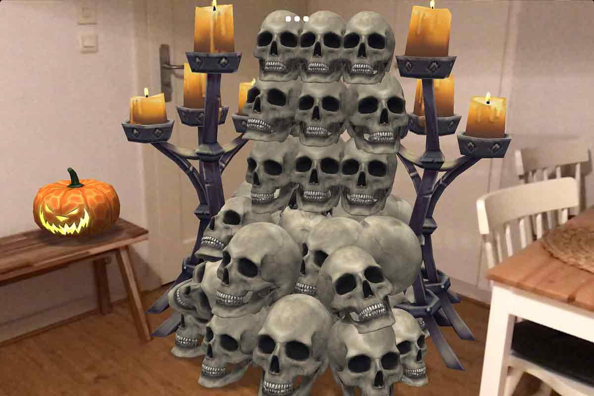 Augmented Reality sei Dank: Wer in Zukunft mit der spektakulärsten Halloween-Deko glänzen will, dem reicht eine ARKit-App fürs iPhone.