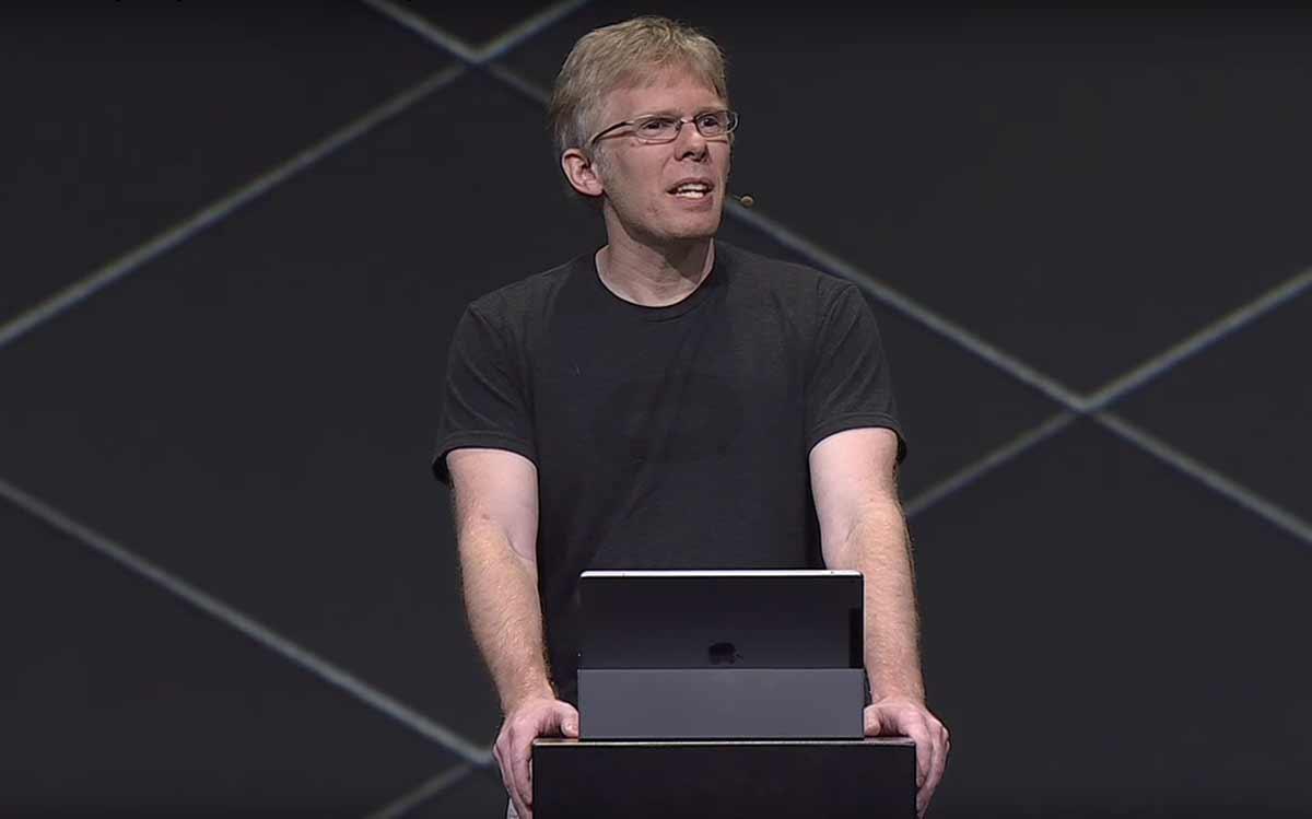 Techpionier und Codeguru John Carmack von Oculus nutzt die neue Virtual-Reality-Brille Oculus Go als Tabletersatz und Netflixmaschine.