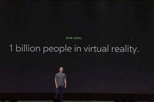 Bei seiner Keynote auf der Connect 4 brach Facebook-Chef Zuckerberg eine Lanze für das soziale Potenzial der VR-Brille.
