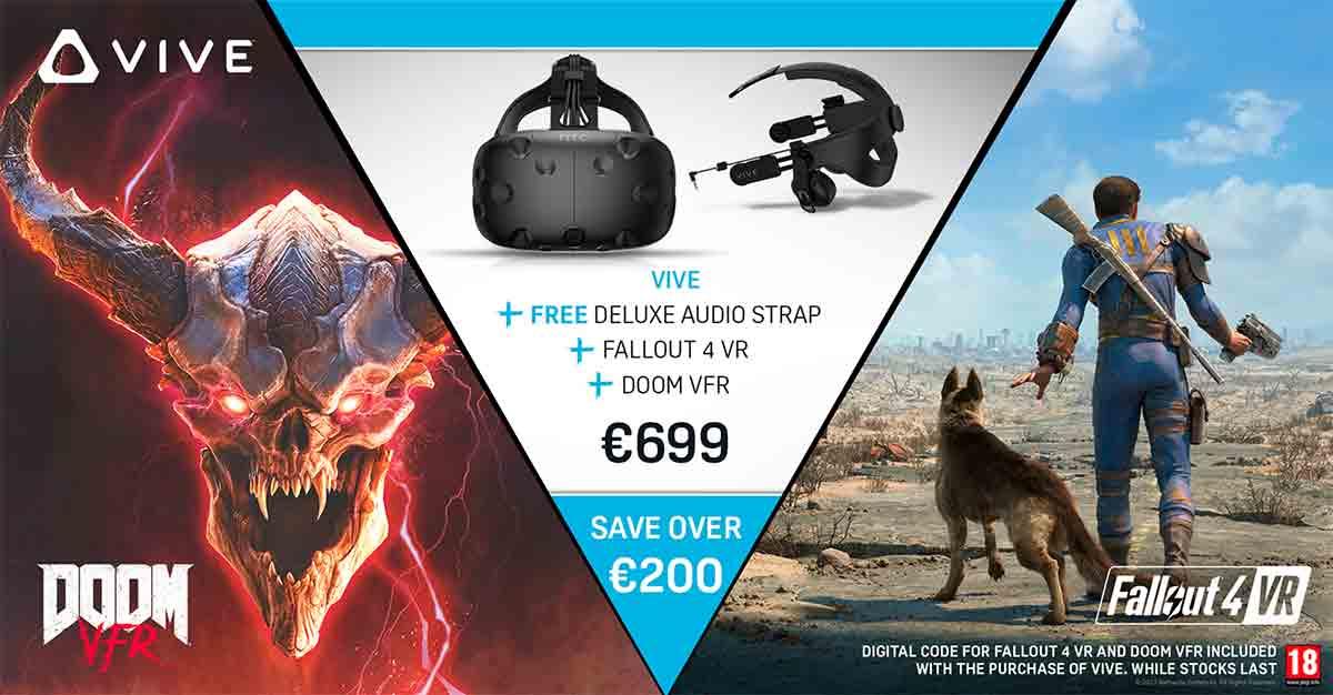 Black Friday: Käufer von HTC Vive erhalten Fallout 4 VR, Doom VFR und Deluxe Audio Strap gratis dazu