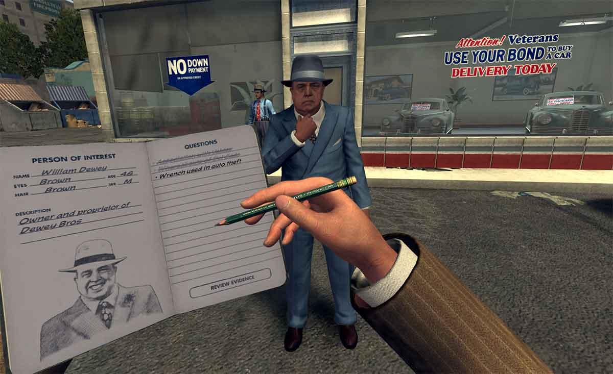 Im Dezember erscheint L.A. Noire für HTC Vive. US-Journalisten konnte das Spiel testen und schildern, wie sich die VR-Adaption spielt.