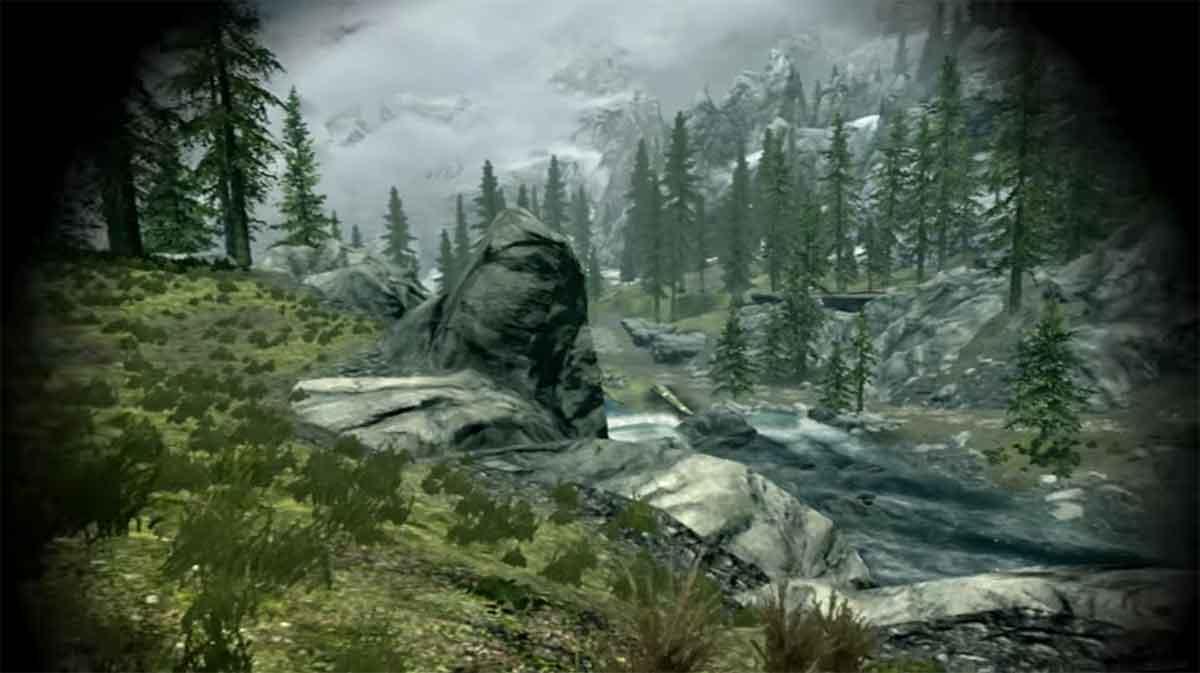 Die riesige Rollenspielwelt von Skyrim VR kann mit einem Room-Scale-VR-System zu Fuß erforscht werden. Ein Spieler setzte sich eigene Regeln und machte daraus eine sportliche Herausforderung.