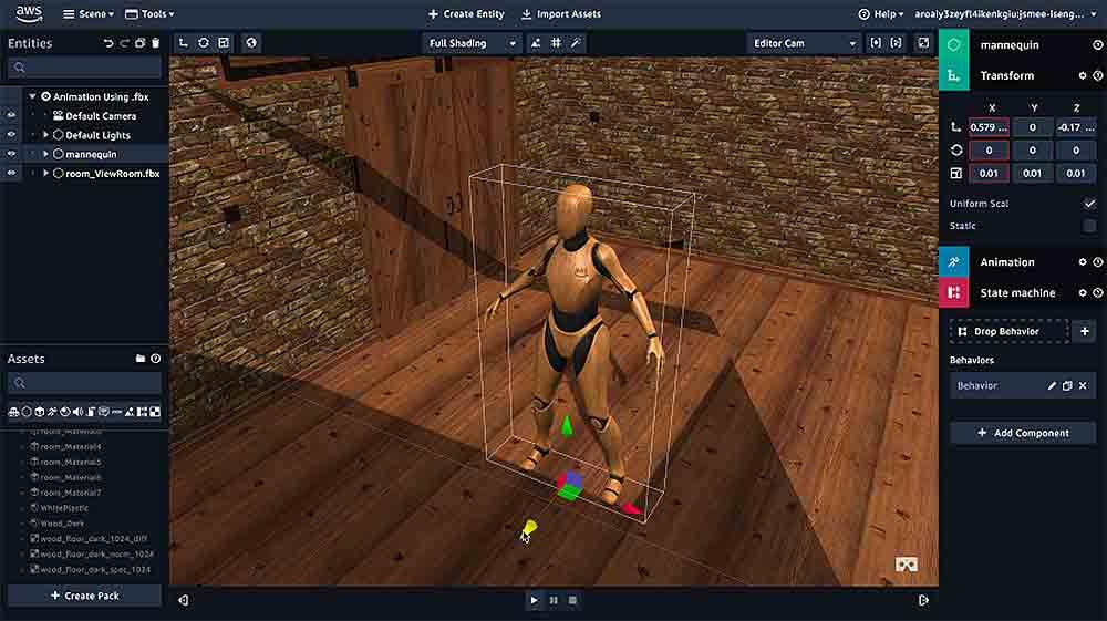 """Mit """"Sumerian"""" können Nutzer innerhalb des Browsers und ohne Programmierkenntnisse Anwendungen für Virtual und Augmented Reality kreieren."""