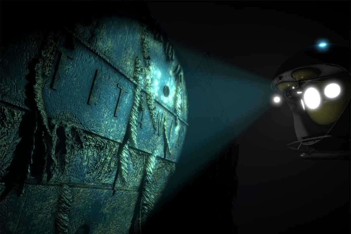 """Mit """"Titanic VR"""" könnt ihr zum Wrack des legendären Prachtschiffs in 3.800 Meter Meerestiefe hinabtauchen."""