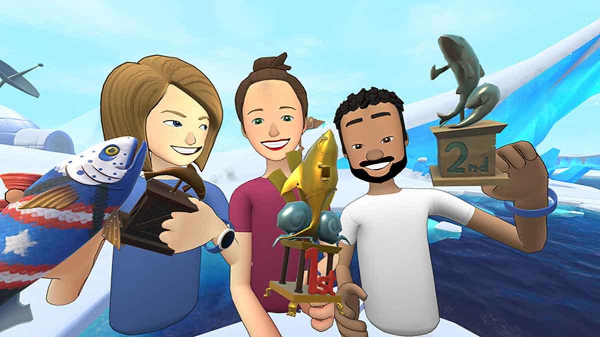 Facebook baut die hauseigene Social-VR-App Spaces aus: Ein neues Feature integriert ein Angelspiel nahtlos in die Virtual-Reality-Umgebung.
