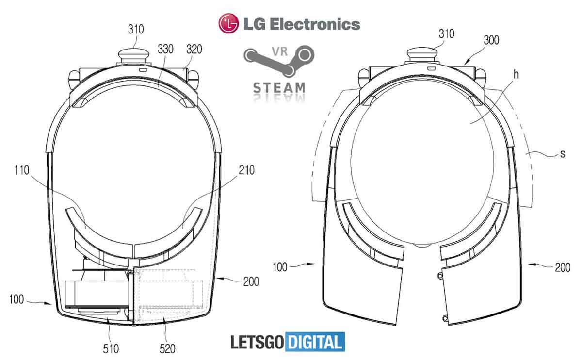 LG patentiert neues Split-Design für Virtual-Reality-Brille