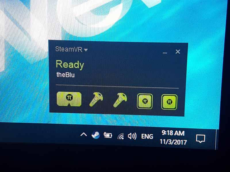 So sieht es aus, wenn Pimax von Steam VR erkannt wird. Bild: VRODO