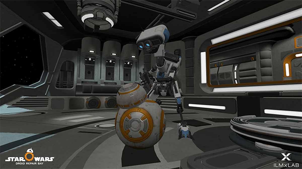 Ab sofort können sich Star-Wars-Fans virtuell zum Astromechaniker weiterbilden. Die App gibt es für HTC Vive, Oculus Rift und Gear VR.