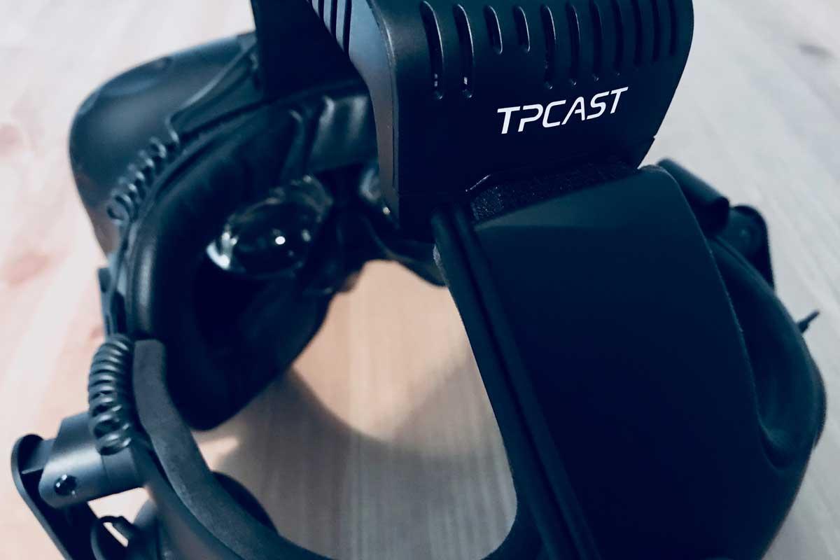 Der Drahtlosadpater TPCast für HTC Vive hält, was er verspricht: Er macht die VR-Brille fast ohne Qualitätseinbußen kabellos.