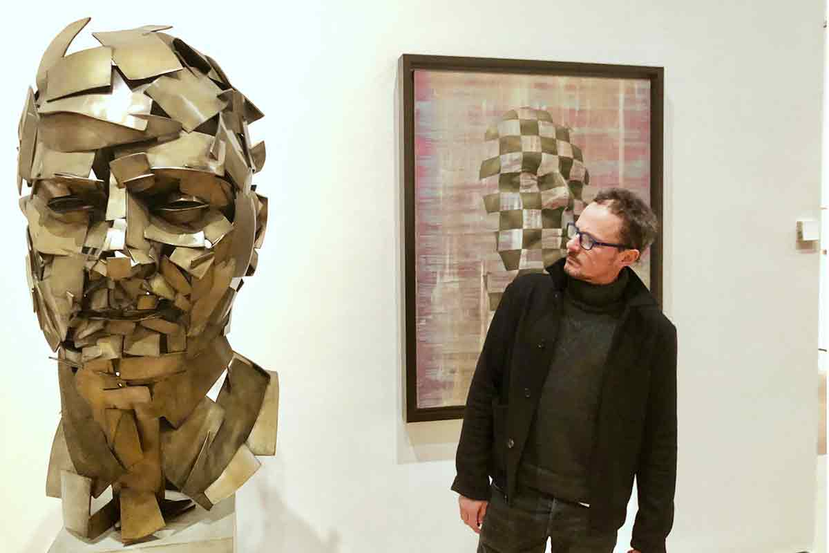 Künstler gießt virtuelle Tilt-Brush-Skulptur in Bronze