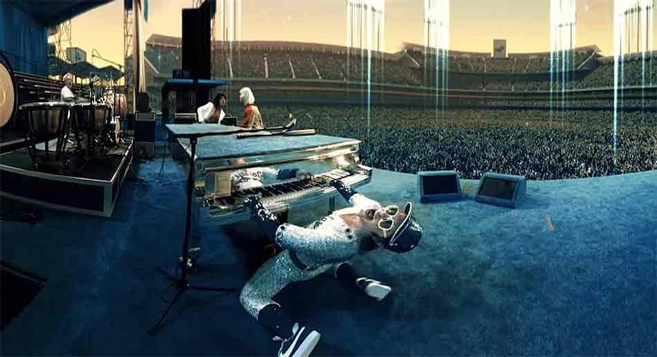 Der aufwendig produzierte VR-Film lässt Meilensteine in Elton Johns fünfzigjähriger Karriere Revue passieren, darunter zwei seiner legendären Konzerte.