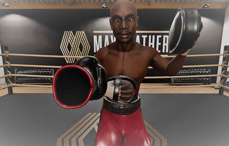 Mit der VR-App können Anfänger und Fortgeschrittene mit einem virtuellen Mayweather das Boxen trainieren und ihre Fitness verbessern.