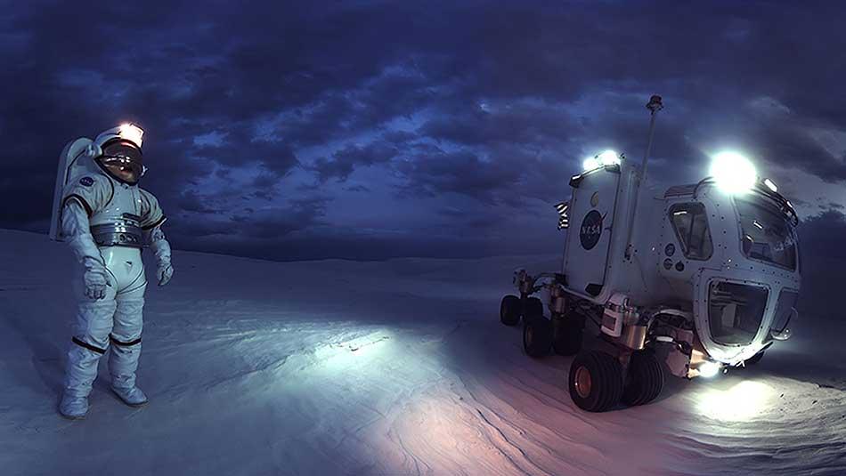 """Die 360-Grad-Dokumentation """"Space Explorers"""" porträtiert die Gegenwart und Zukunft der Raumfahrt aus der Perspektive der Astronauten."""