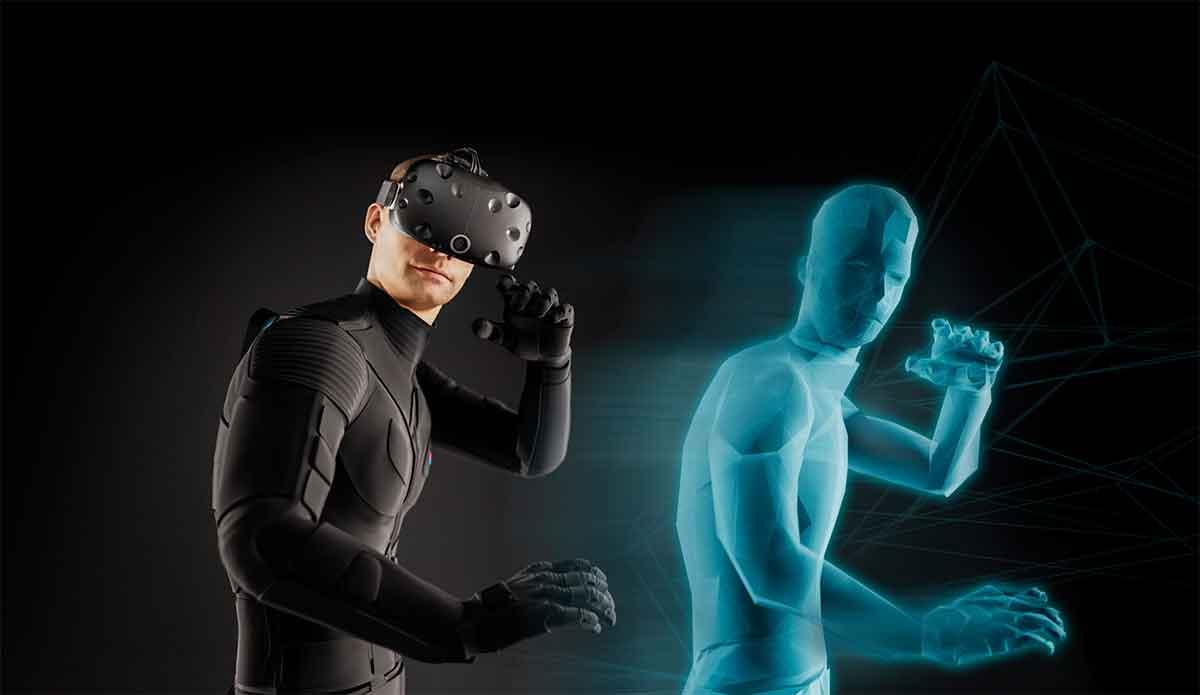 Der Teslasuit bietet Ganzkörpererfassung -und haptik und simuliert Temperaturschwankungen in der Virtual Reality.