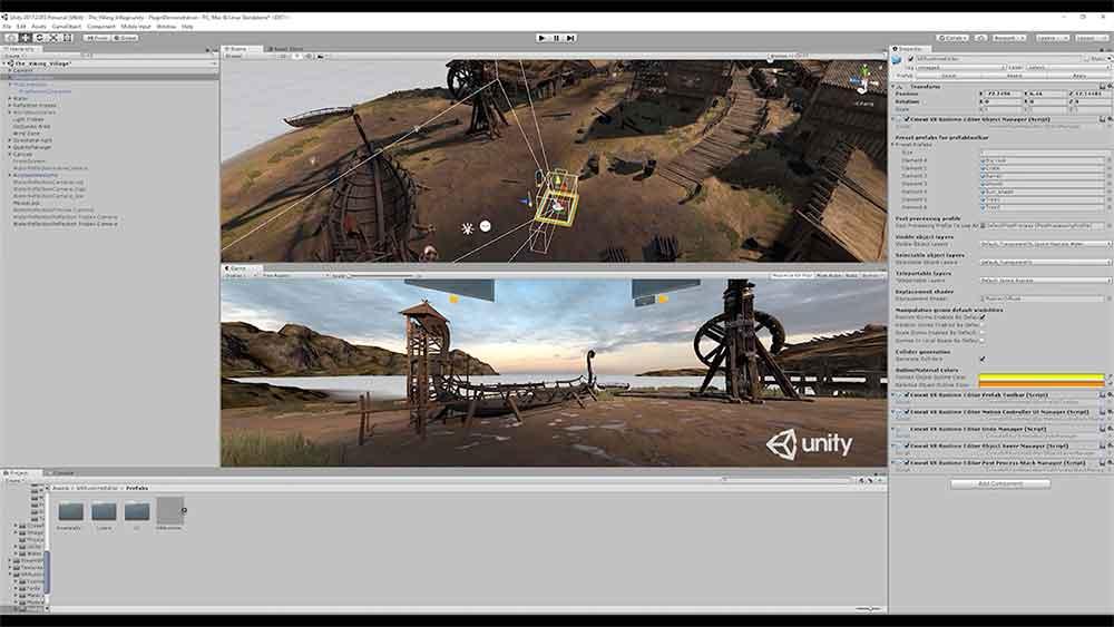 Das finnische Studio Vaki Games bietet VR-Regisseuren ein Unity-Plugin an, mit der sich VR-Filmszenen in der Virtual Reality arrangieren lassen.