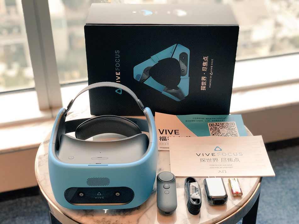 Seit einigen Tagen wird in China HTCs autarke VR-Brille Vive Focus verkauft. Zum Marktstart gibt es 40 Apps, ein Großteil davon sind Spiele.