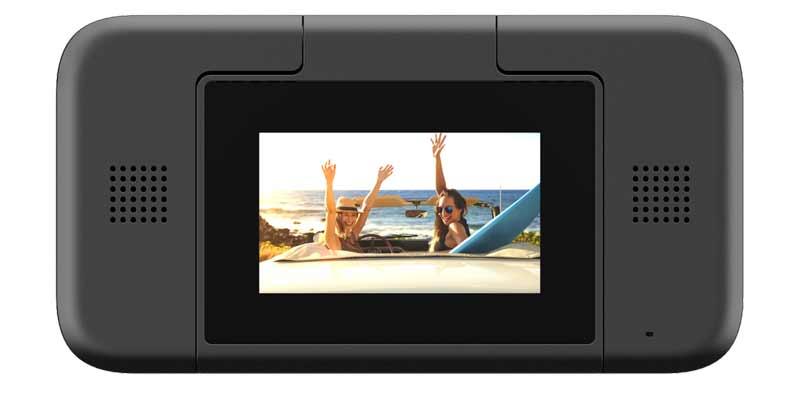 Die Yi-Horizon-Kamera hat rückseitig einen Touchscreen verbaut. Bild: Yi Technologies