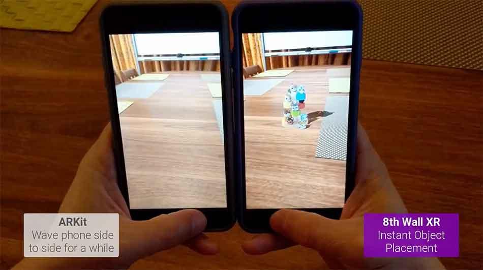 Das US-Startup 8th Wall arbeitet an einer AR-Plattform, die auf allen Smartphones laufen und ARKit sowie ARCore unterstützen soll.