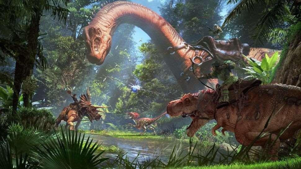 Im Urzeitspektakel Ark Park schickt euch Snail Games in einen Dinosaurier-Freizeitpark. Unterstützt werden HTC Vive, Oculus Rift und Playstation VR.