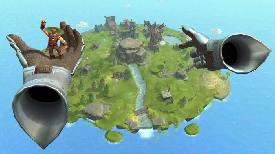 """Das VR-Aufbaustrategiespiel Townsmen VR bietet bereits im Early Access sehr viel vom Charme der """"Siedler""""-Spiele."""