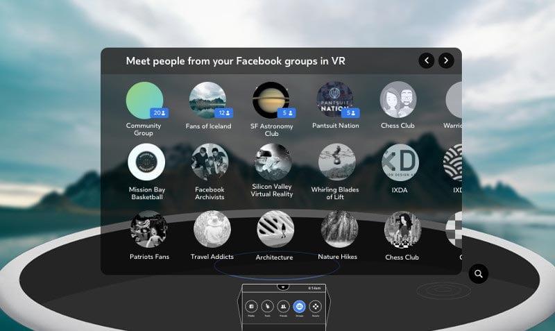 Mitglieder von Facebook-Gruppen können in einem Menü den Gruppenchat auswählen. Bild: Facebook