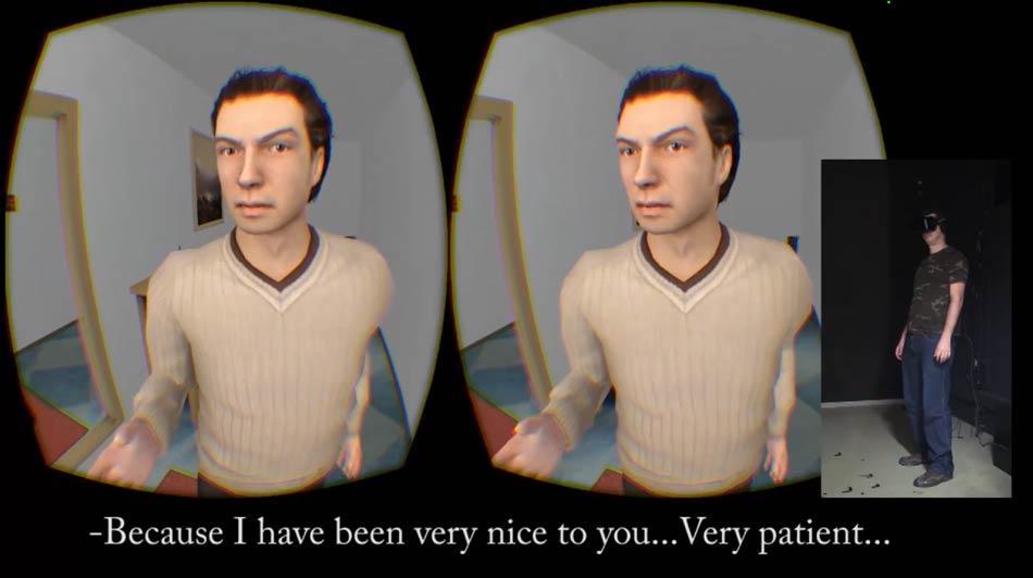 Gewalttätige Männer sollen nach dem Virtual-Reality-Experiment einen ängstlichen Ausdruck im Gesicht einer Frau besser erkennen können.