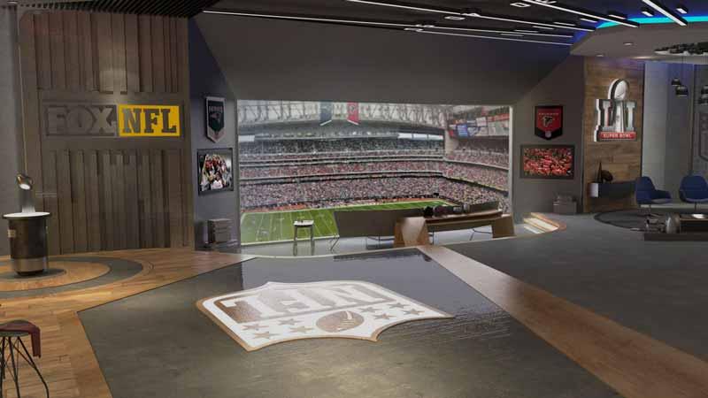 Der virtuelle VIP-Raum mit simuliertem Stadionblick. Bild: Livelike