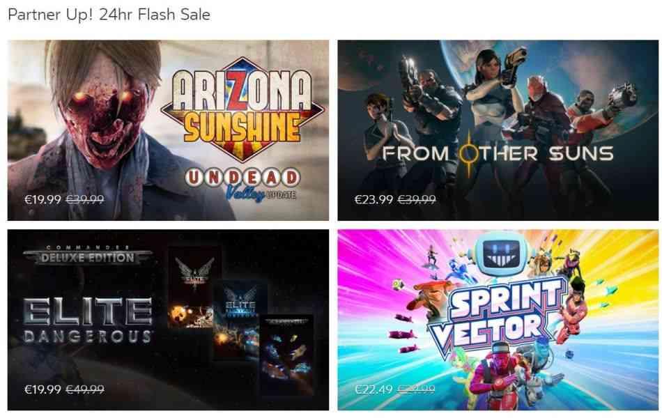 Im Oculus Store gibt es für kurze Zeit zahlreiche VR-Spiele günstiger. Mit dabei sind Titel wie Sprint Vector, Sairento VR und OrbusVR.