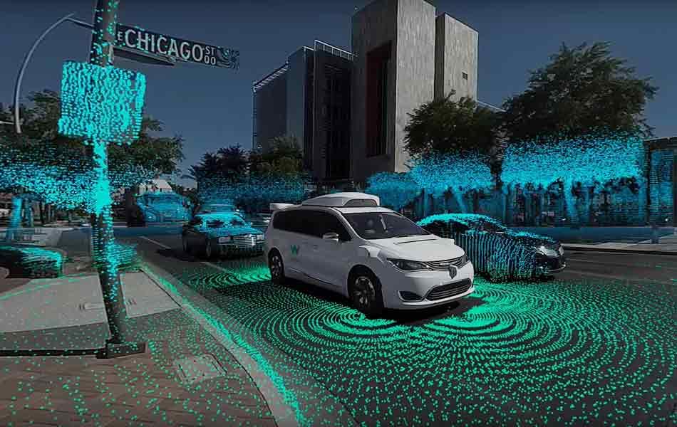 Das Google-Schwesterunternehmen Waymo zeigt in einem 360-Grad-Video, wie autonome Autos unsere Umwelt wahrnehmen.
