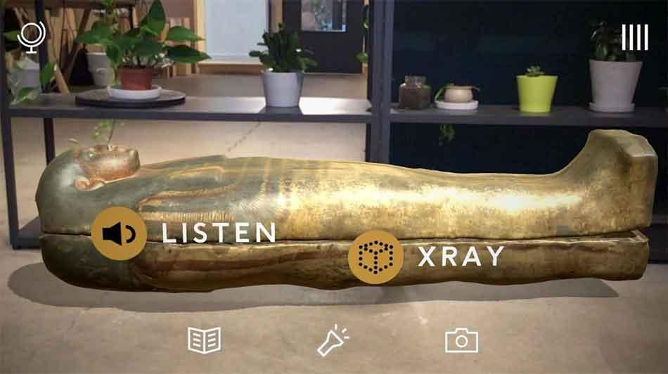 """Mit """"Civilisations AR"""" können Nutzer 3D-gescannte Artefakte aus britischen Museen ins eigene Wohnzimmer projizieren und aus der Nähe untersuchen."""