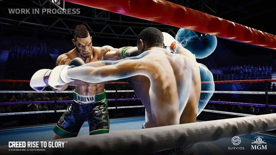 """Das topfinanzierte VR-Studio Survios entwickelt ein Virtual-Reality-Spiel zum Film """"Creed: Rise to Glory"""", das für Playstation VR, Oculus Rift und HTC Vive erscheint."""