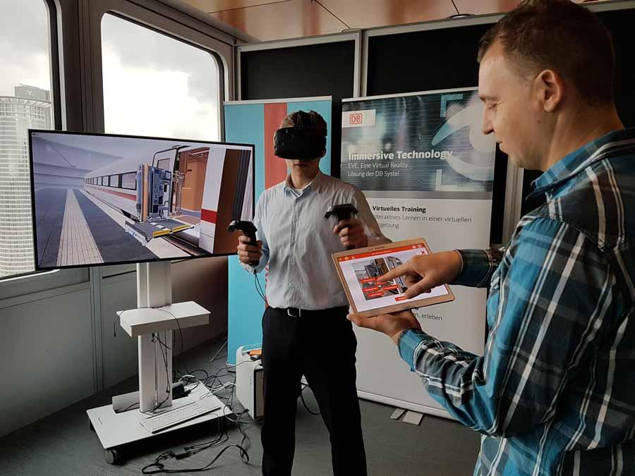 Die Deutsche Bahn experimentiert für eine Reihe von Aufgaben mit Virtual-Reality-Training. Das soll Zeit und Geld sparen.