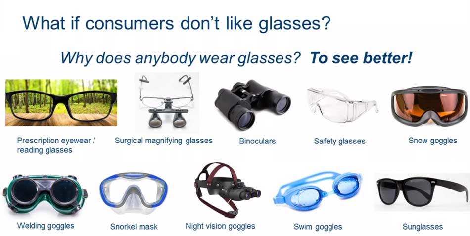 Menschen tragen Brillen ungern und nur, um besser zu sehen. Wie kriegt man sie dazu, dennoch eine AR-Brille aufzusetzen?
