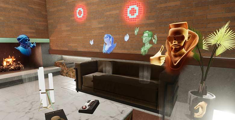 So sieht es aus, wenn Oculus-Avatare gemeinsam in ihrem virtuellen Zuhause abhängen. Bild: Oculus