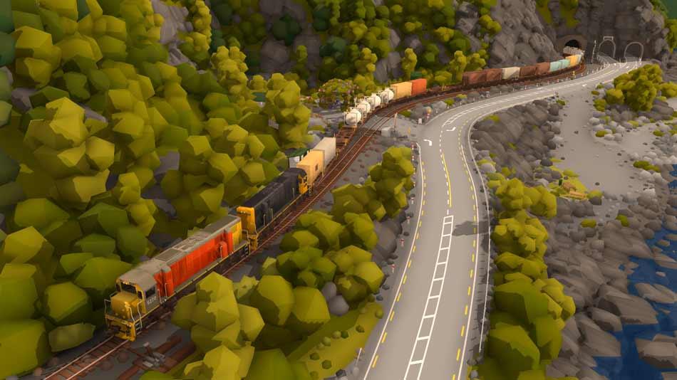 """Die charmante Spielzeugeisenbahn-Simulation """"Rolling Line"""" nutzt die vielleicht größte Stärke der Virtual Reality."""