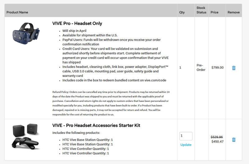 In den USA bietet HTC ein Starterbundle an, das den teuren VR-Neueinstieg mit Vive Pro etwas günstiger macht.