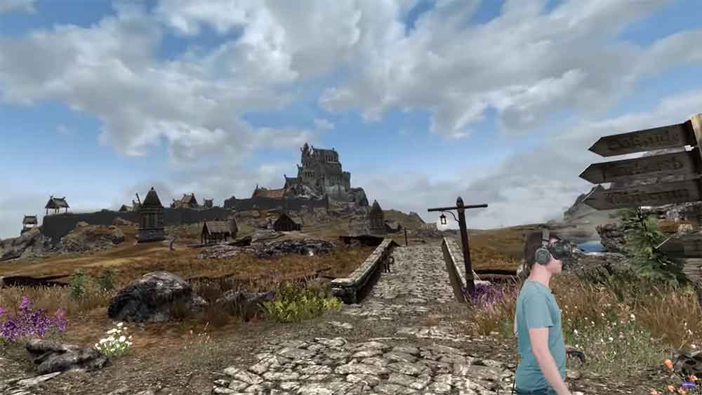 Um das sieben Jahre alte Skyrim VR grafisch aufzuhübschen, installierte ein Youtuber knapp 300 Mods. Die VR-Portierung läuft dennoch flüssig.