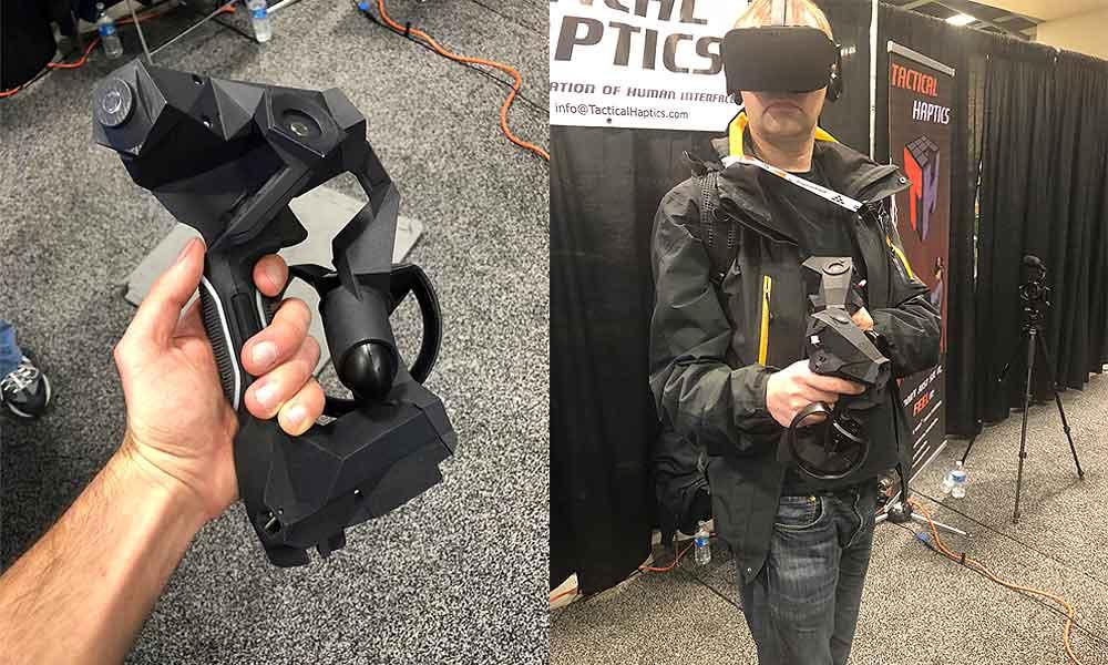 Die Controller simulieren glaubhaften Widerstand an den Handinnenflächen durch gleitende Segmente. Ich habe den neuesten Prototyp auf der GDC ausprobiert.