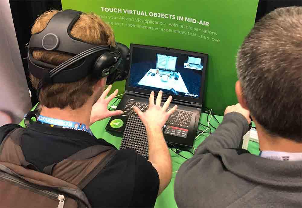 Ultrahaptics arbeitet an einer Technologie, mit der Nutzer virtuelle Objekte mitten in der Luft spüren und ertasten können.Ich habe sie auf der GDC ausprobiert.