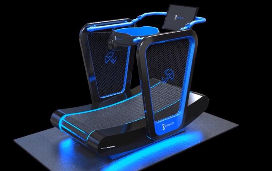Die Ästhetik erinnert eher an hochgezüchtete Spiele-PCs, weniger an ein Sportgerät. Bild: Blue Goji
