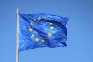 Die Flagge der europäischen Union.