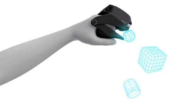 Schützen nicht vor Kälte, dafür kann man VR-Objekte greifen. Die Exos-Fäustlinge Gripper. Bild: Exiii