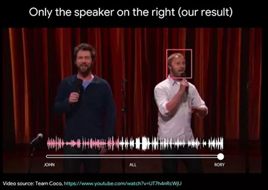 Eine neue Analyse-KI von Google kann sich auf eine einzelne Stimme in einem Raum oder während eines Gesprächs fokussieren und nur dieser zuhören.