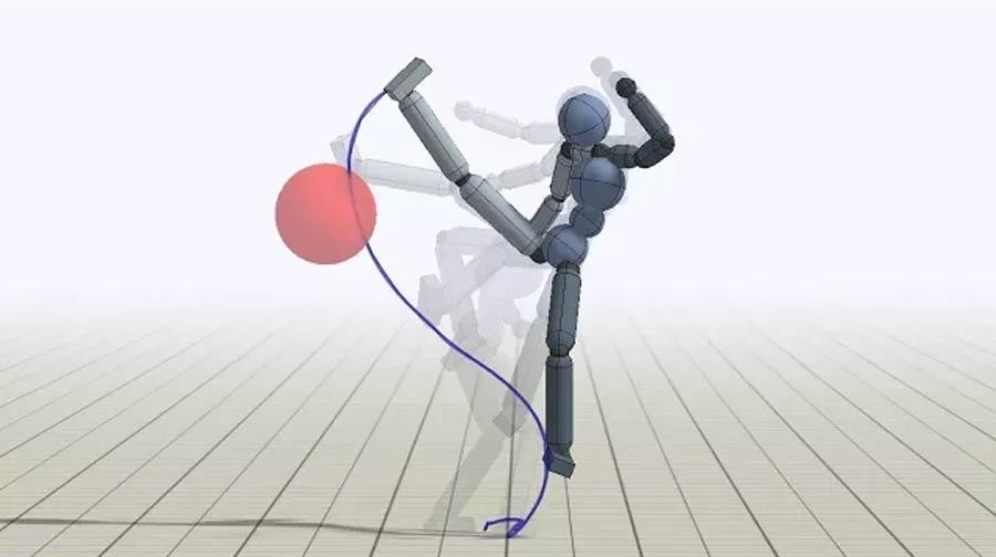 Forscher der Universitäten Berkeley und British Columbia führten einer Künstlichen Intelligenz Bewegungsdaten menschlicher Kung-Fu-Kämpfer zu. Das Ergebnis ist so gut, dass es bestehende Animationsverfahren für Computerspiele oder Filme ersetzen könnte.
