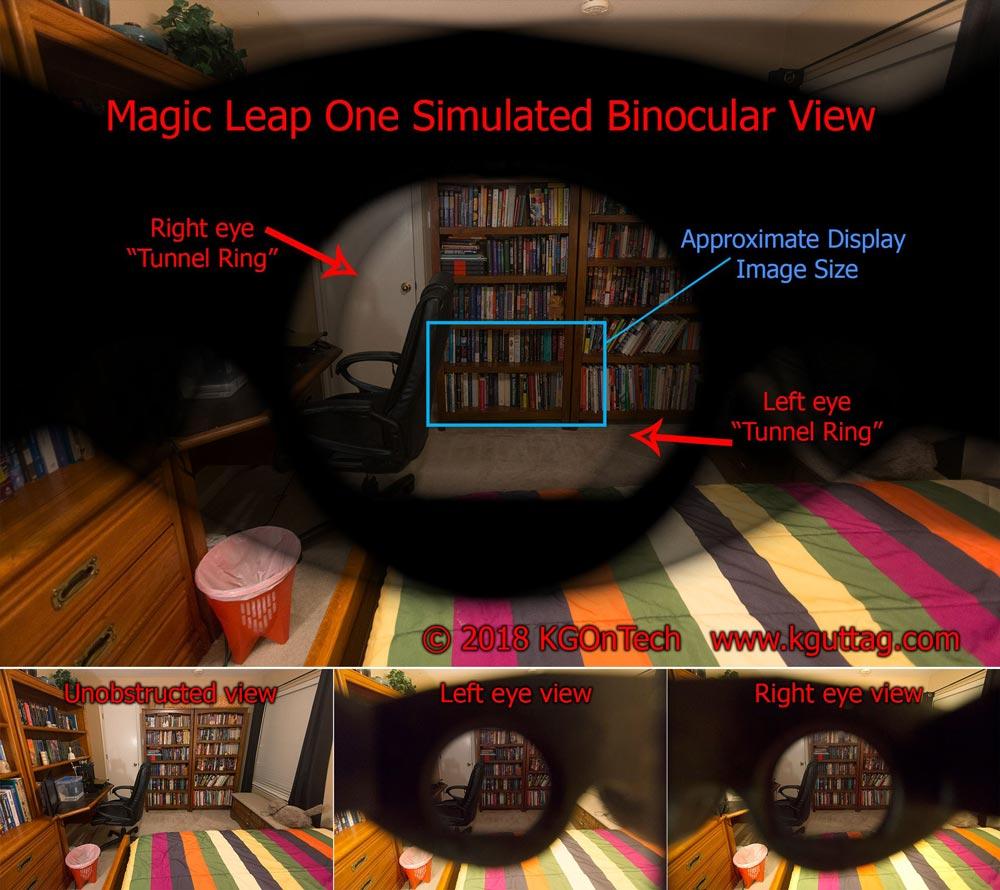 So sieht der Blick durch Guttags 3D-Druck-Magic-Leap aus. Bild: Guttag: