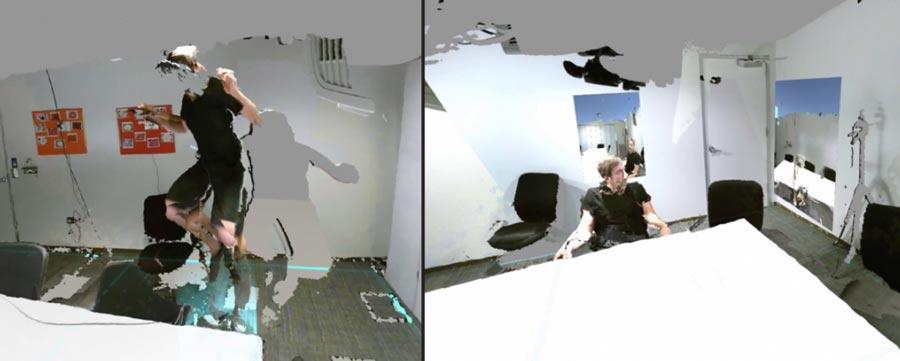 Microsoft-Entwickler zeigen ein außergewöhnliches Experiment: In einem Mixed-Reality-Raum können Zeit und Raum manipuliert werden.